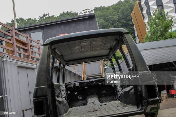 The Rust removed gallopper house lift up at mohenic garages yard in Paju South Korea A 20yearold beat up Hyundai SUV isn't anyone's idea of a dream...