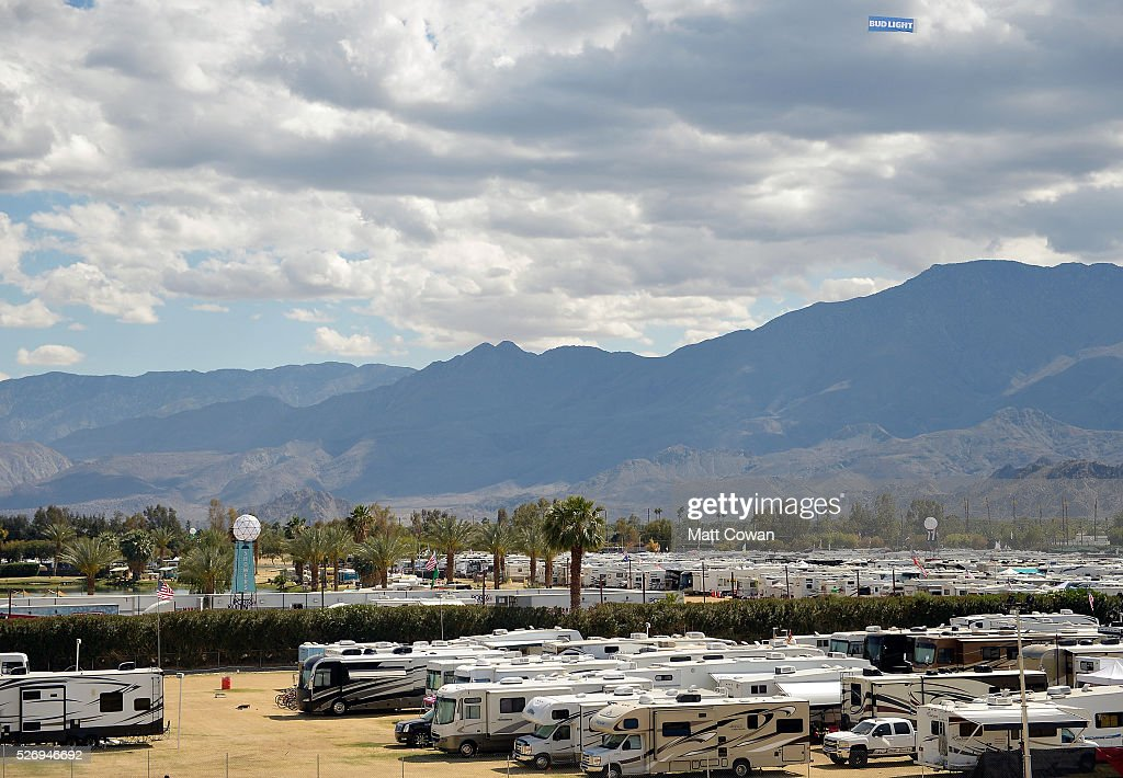 The RV park is seen during 2016 Stagecoach California's Country Music Festival at Empire Polo Club on May 01, 2016 in Indio, California.