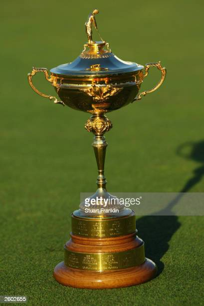 The Ryder Cup trophy on show during the final round of The Linde German Masters held on September 21 2003 at the Gut Larchenhof Golf Club in Pulheim...