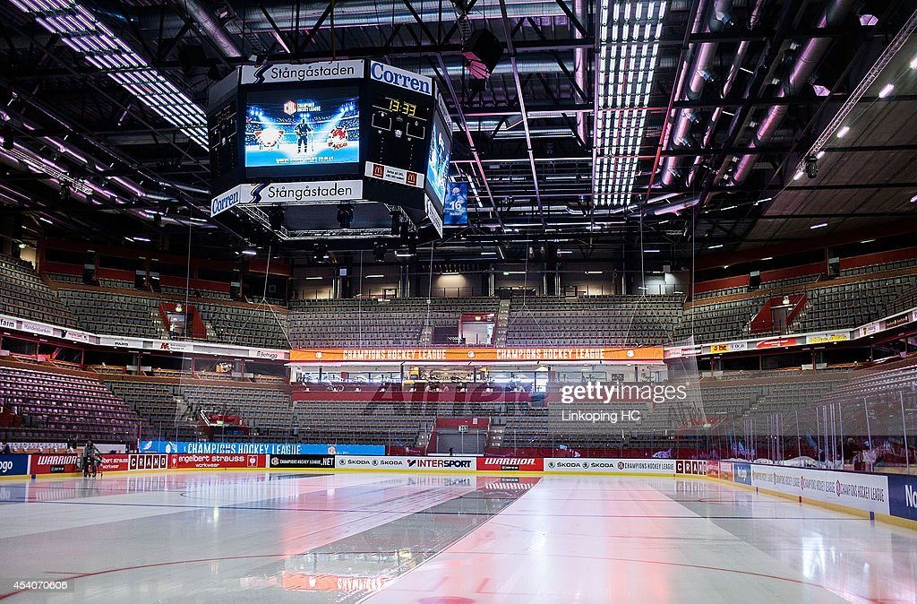 The SAAB Arena is seen prior to the Champions Hockey League group stage game between Linkoping HC and HC Bolzano on August 24, 2014 in Linkoping, Sweden.