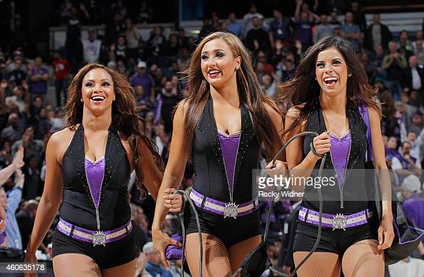 The Sacramento Kings dance team during the game against the Houston Rockets and Sacramento Kings on December 11 2014 at Sleep Train Arena in...