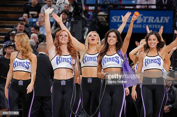 The Sacramento Kings dance team performs during the game against the Dallas Mavericks on November 30 2015 at Sleep Train Arena in Sacramento...