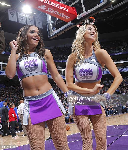 The Sacramento Kings dance team performs during the game against the Detroit Pistons on January 10 2017 at Golden 1 Center in Sacramento California...