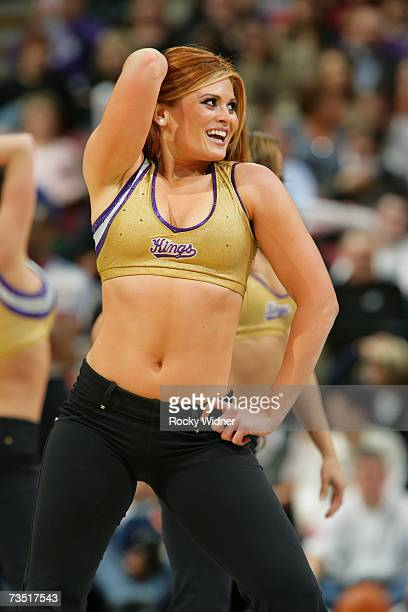 The Sacramento Kings Dance Team performs during the NBA game between the Charlotte Bobcats and the Sacramento Kings at Arco Arena on February 28 2007...