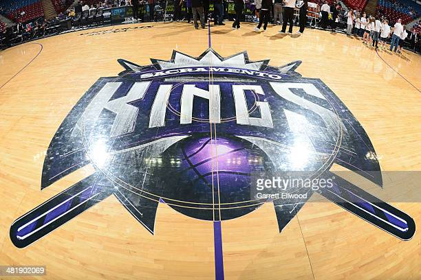 The Sacramento Kings logo before the game against the Washington Wizards at Sleep Train Arena on March 3 2014 in Sacramento California NOTE TO USER...