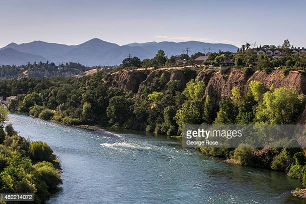 The Sacramento River is viewed as it flows south past the Sundial Bridge on July 19 in Redding California After entering the fourth year of drought...