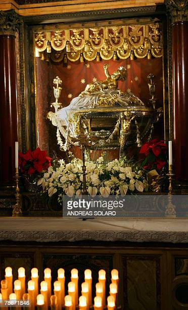 The sacred cradle said to be where Jesus was born is kept in the Basilica of Santa Maria Maggiore in Rome 29 December 2007 According to experts the...
