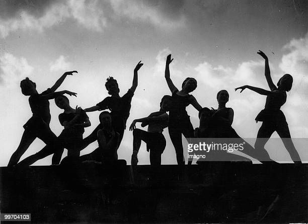 The Sadler's Wells Ballet is rehearsing for the opera 'Faust' on the roof of the theatre Photograph Around 1935 Photo by Austrian Archives