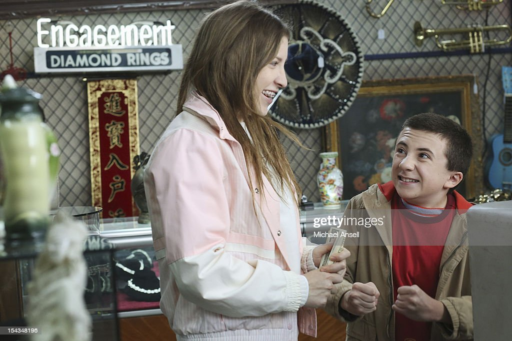 THE MIDDLE - 'The Safe' - Frankie is made an example of in front of the entire class when she doesn't make a good impression on her first day of dental assisting school with no-nonsense teacher Mrs. Armwood (Jane Kaczmarek, 'Malcolm in the Middle'). Meanwhile, because Axl's broken foot may end any chance of his receiving a college sports scholarship, Frankie and Mike insist that he up his grades and get himself a tutor; and Sue and Brick think they've stumbled upon an expensive item inside an old safe and try to get big bucks for it from a local pawn store employee (Rick Harrison, 'Pawn Stars'), on 'The Middle,' WEDNESDAY, NOVEMBER 7 (8:00-8:30 p.m., ET) on the ABC Television Network. SHAFFER