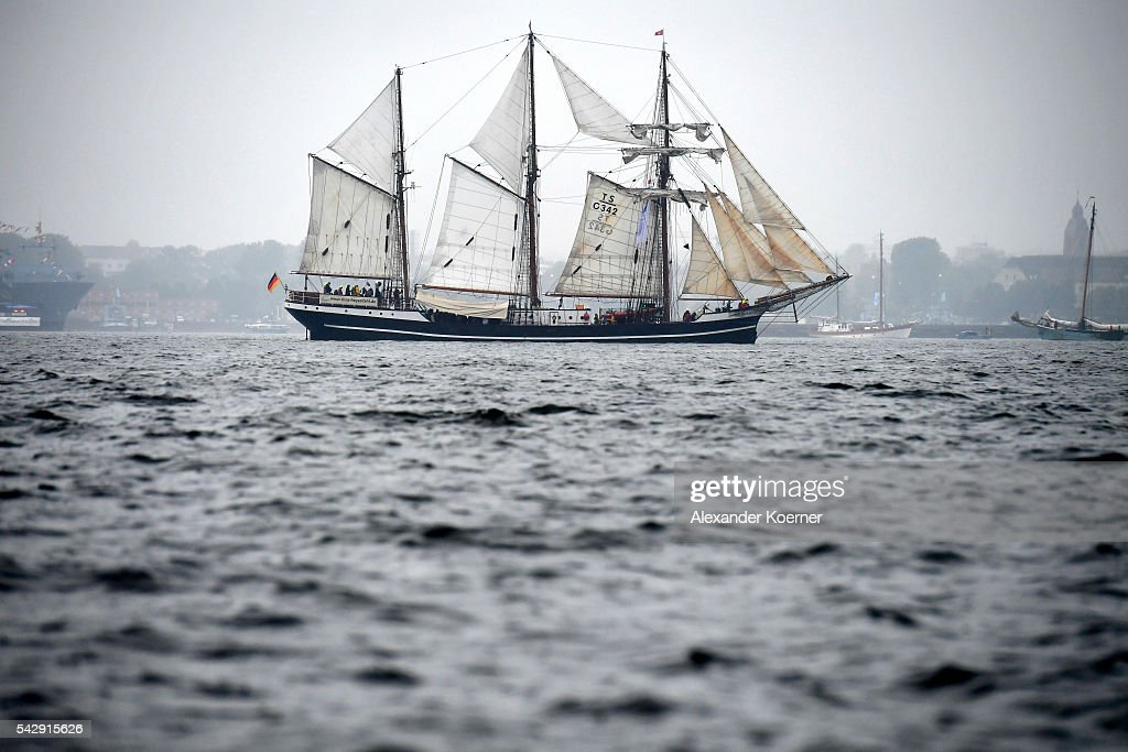 The sailing ship 'Thor Heyerdahl' sails out of the Bay of Kiel during the annual Windjammer parade on June 25, 2016 in Kiel, Germany. The annual Tall Ships Parade, in which many of the world's largest traditional sailing ships participate, is the highlight of the Kieler Woche (Kiel Week), the world's biggest regatta and sailing event.