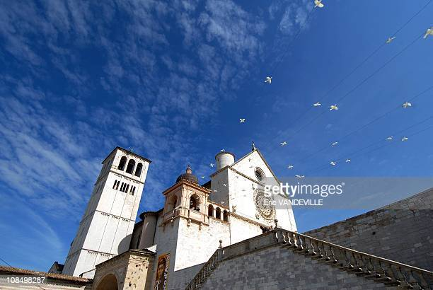 The Saint Francis Basilica Illustration Assisi the city of Saint Francis On June 17th 2007 pope Benedict did a Pastoral visit in Assisi the city of...