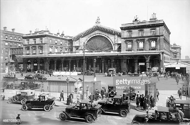 The Saint Lazare station in 1928 in Paris France
