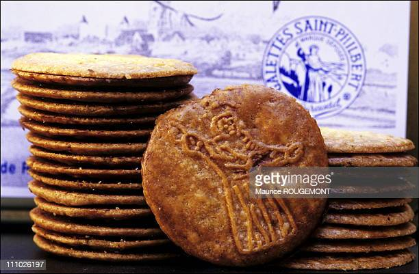 The Saint Philibert biscuits named after the saint who evangelized the island in Noirmoutier Island in Ile de Noirmoutier France on October 17th 2005