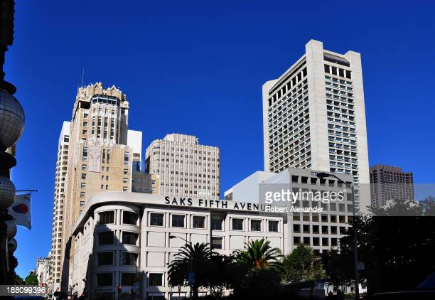 The Saks Fifth Avenue store is located in San Francisco's upscale Union Square shopping district