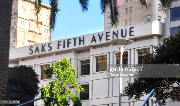 The Saks Fifth Avenue store on Post Street is among the upscale retailers in the Union Square district of San Francisco California