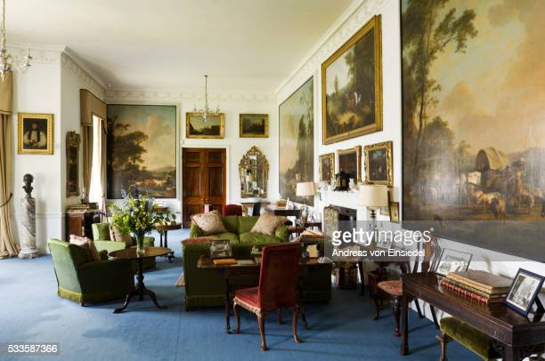 The Saloon at Plas Newydd, on the Isle of Anglesey, Wales