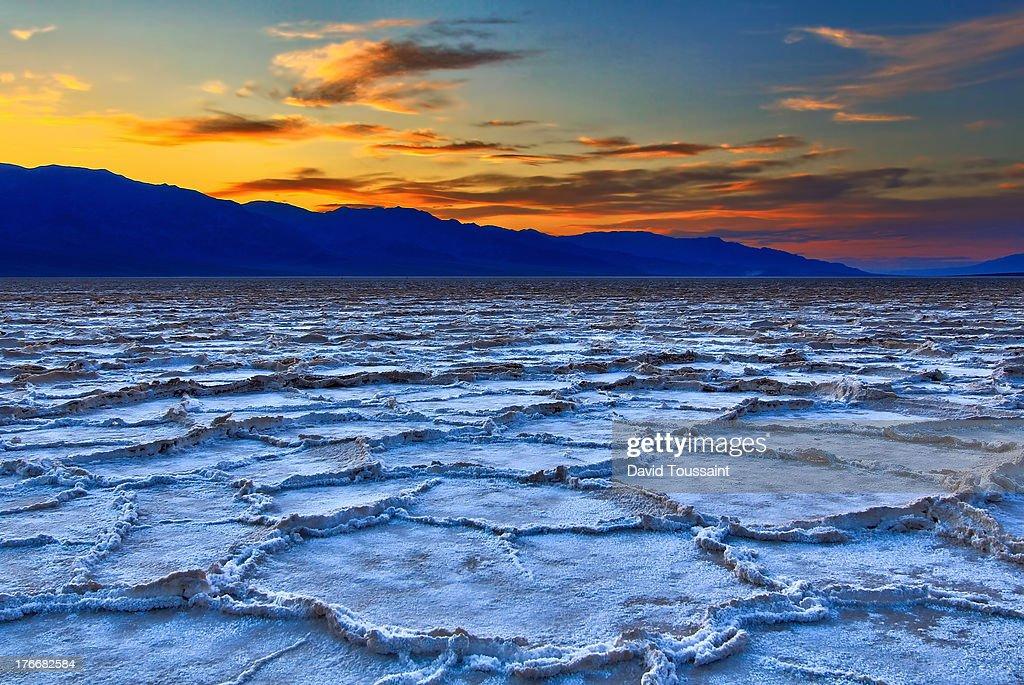 The Salt Flats at Sunset