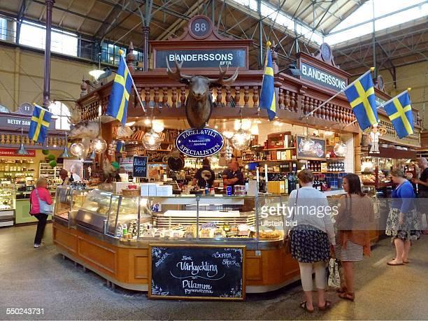 The Saluhallen Market Hall in Östermalm a central district of Stockholm Sweden Östermalm is one of the more affluent districts of Stockholm