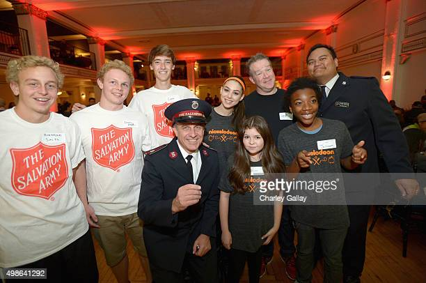 The Salvation Army Divisional Commander Southern California Division Lt Colonel Kyle Smith actors Kira Kosarin Chris Tallman Addison Riecke Jaheem...