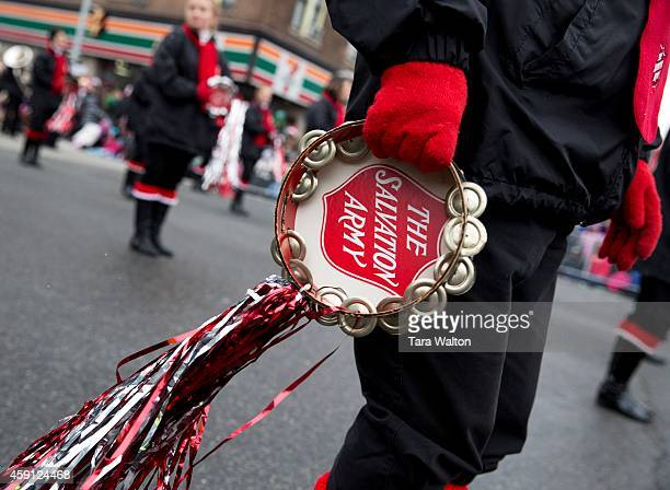 TORONTO ON NOVEMBER 16 The Salvation Army Marching band The 110th annual Santa Claus Parade makes it way down Bloor Street West Sunday November 16...
