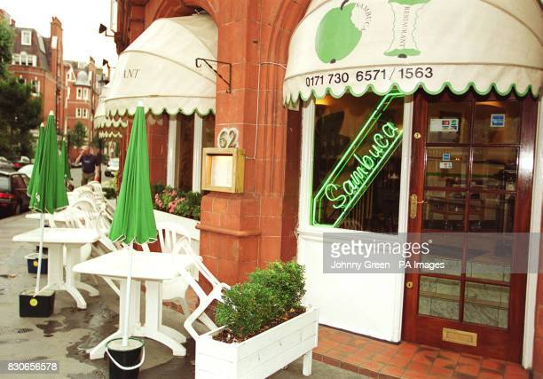 The Sambuca restaurant in Chelsea west London where Lord Archer claimed to have had dinner with a friend after a newspaper alleged he spent the...