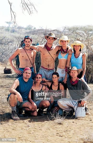 The Samburu Tribe of 'Survivor Africa' on the Shaba National Reserve in 2001 Back row Brandon Quinton Silas Gaither Lindsey Richter Teresa Cooper...