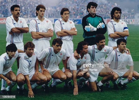 The Sampdoria team before their European Cup Winners' Cup final match against Barcelona at the Wankdorf Stadium in Berne Switzerland 10th May 1989...