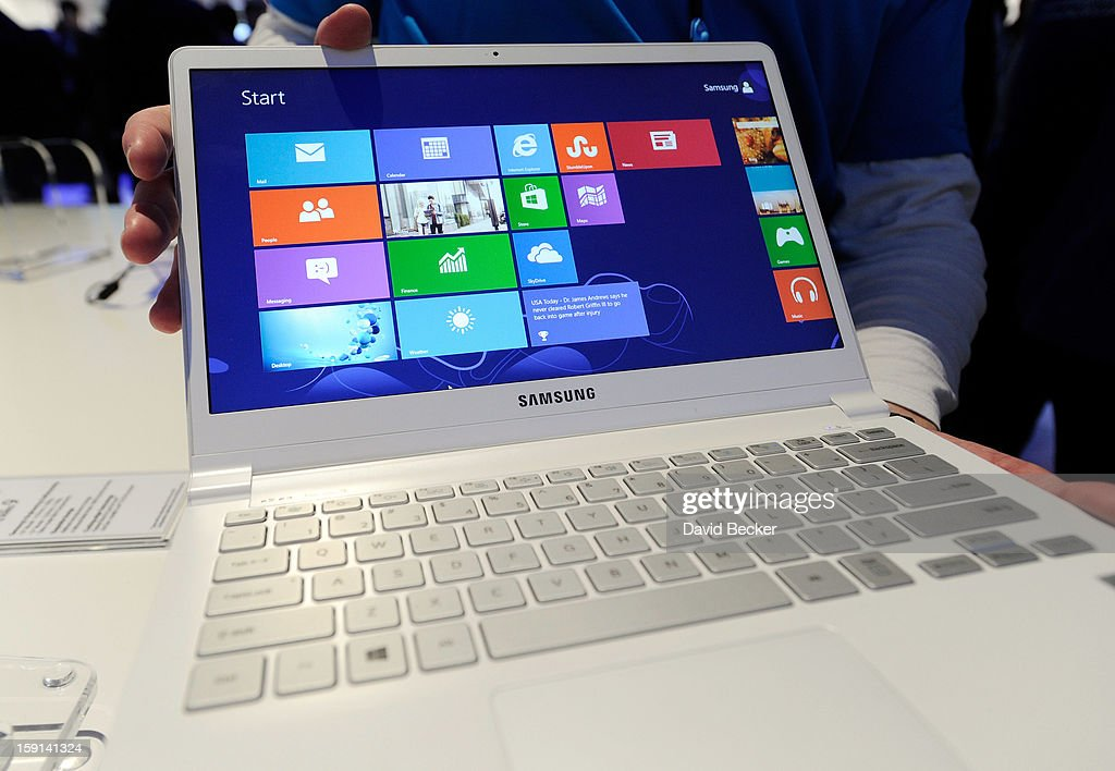 The Samsung Series 9 ultra laptop is on display at the 2013 International CES at the Las Vegas Convention Center on January 8, 2013 in Las Vegas, Nevada. CES, the world's largest annual consumer technology trade show, runs through January 11 and is expected to feature 3,100 exhibitors showing off their latest products and services to about 150,000 attendees.