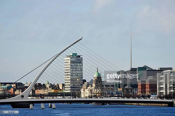 The Samuel Beckett Bridge spans the River Liffey in Dublin Ireland on Thursday Dec 27 2012 Ireland will take over the EU presidency in January as the...