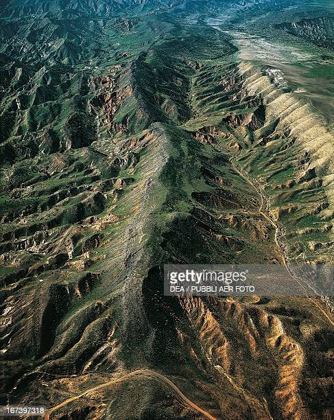 The San Andreas Fault California United States Aerial view