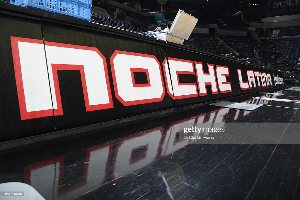 The San Antonio Spurs celebrate Noche Latina during the game against the Dallas Mavericks on March 14, 2013 at the AT&T Center in San Antonio, Texas.