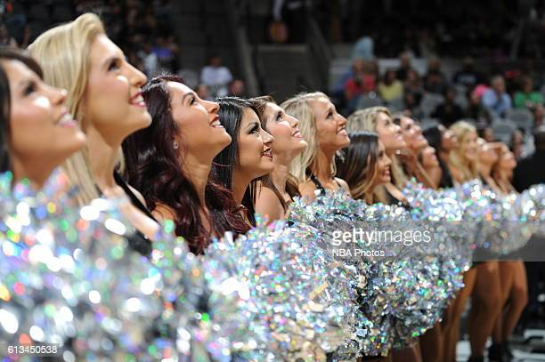 The San Antonio Spurs dance team is seen against the Atlanta Hawks on October 8 2016 at the ATT Center in San Antonio Texas NOTE TO USER User...