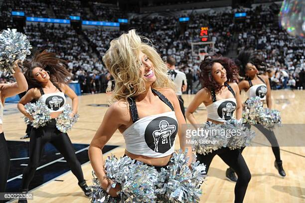 The San Antonio Spurs dance team performs against the New Orleans Pelicans on December 18 2016 at the ATT Center in San Antonio Texas NOTE TO USER...
