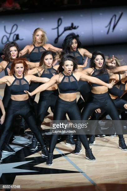 The San Antonio Spurs dance team performs during the game against the Oklahoma City Thunder on January 31 2017 at the ATT Center in San Antonio Texas...