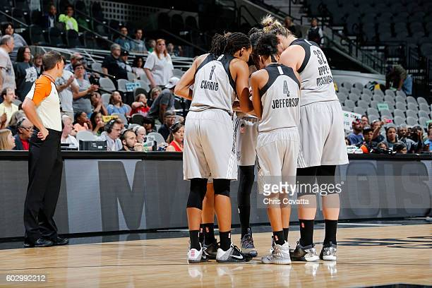 The San Antonio Stars huddle before the game against the Minnesota Lynx on September 11 2016 at ATT Center in San Antonio Texas NOTE TO USER User...