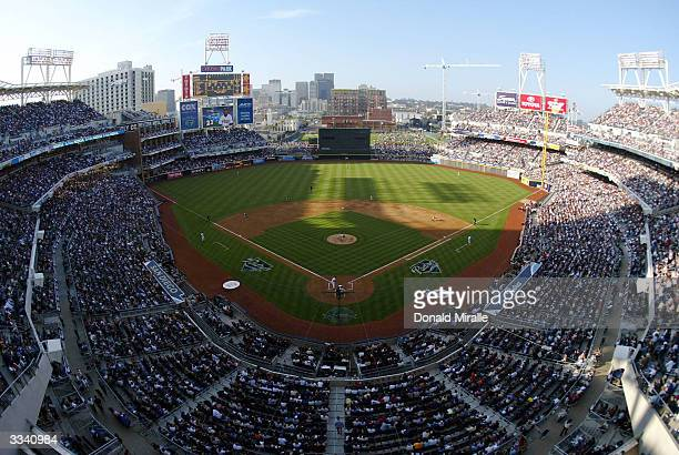 The San Francisco Giants play the San Diego Padres on April 11 2004 at Petco Park in San Diego California