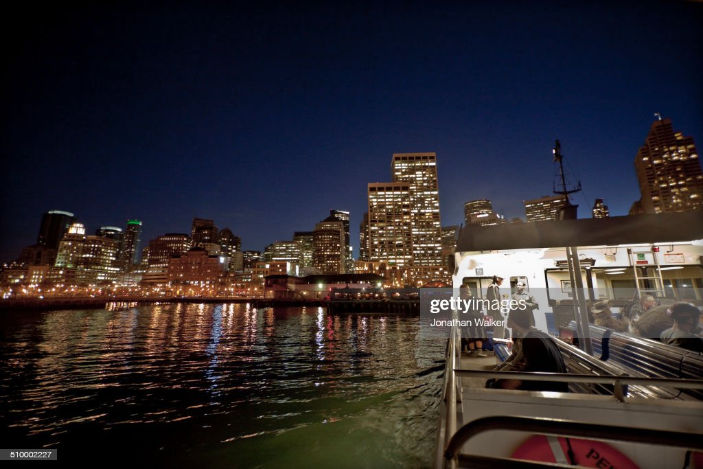 The San FranciscoOaklandAlameda Ferry near deporting in downtown San Francisco