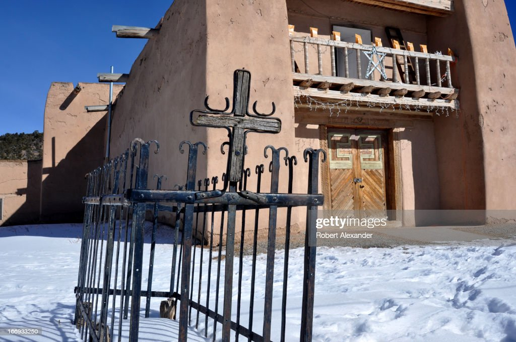 The San Jose de Gracia Catholic church in Las Trampas, New Mexico, was built by Spanish settlers in the 1760s. The historic adobe church in northern New Mexico is on the famed High Road to Taos.