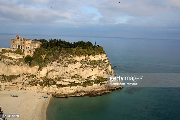 The sanctuary of Santa Maria dell'Isola portrayed in a photo shooting Tropea Italy April 2005