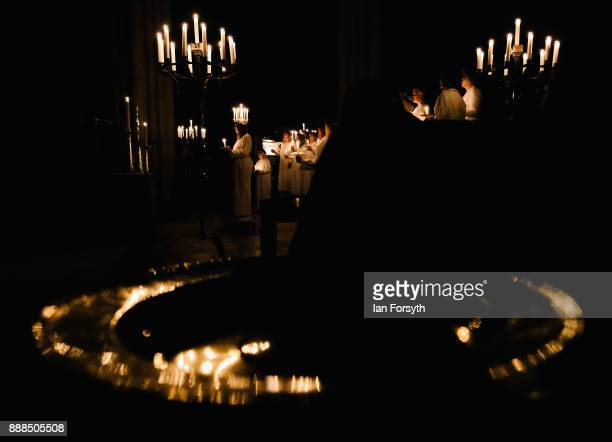 The Sankta Lucia festival of Light service takes place at York Minster on December 8 2017 in York England The Sankta Lucia service is a traditional...