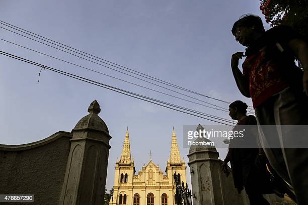 The Santa Cruz Basilica stands in the Fort Kochi area of Cochin India on Saturday May 30 2015 Prime Minister Narendra Modi is counting on a revival...