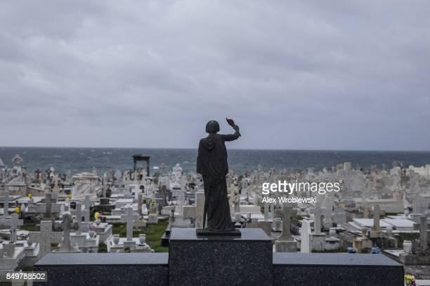 The Santa Mara Magdalena de Pazzis Cemetery as residents prepare for a direct hit from Hurricane Maria on September 19 2017 in San Juan Puerto Rico...