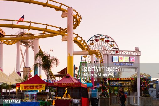 The Santa Monica Pier has a carnival like vibe