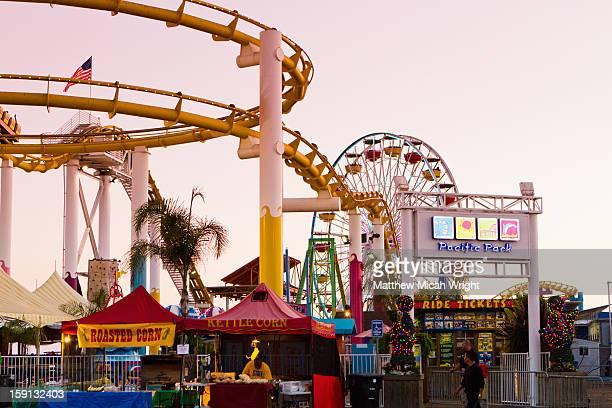 The Santa Monica Pier has a carnival like vibe