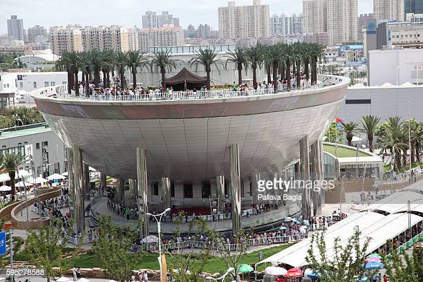 The Saudi Arabia pavilion which saw people waiting for up to 67 hours to get in The Shanghai World Expo which has the theme 'Better City Better Life'...
