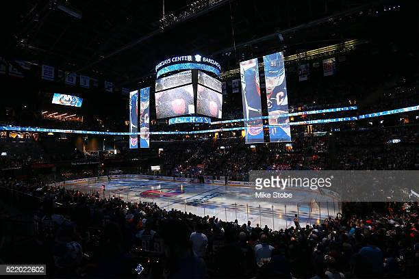 The scene at Barclays Center before the New York Islanders and Florida Panthers take the ice for Game Three of the Eastern Conference Quarterfinals...