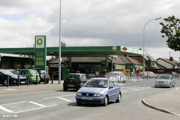 The scene at Belfast's busy Blacks Road where a 15 year old girl was raped twice She was dragged by the hair to the forecourt of a BP petrol station...