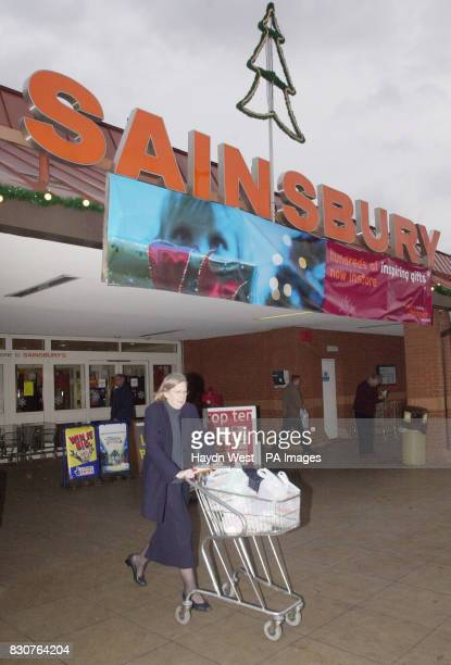 The scene at Castle Marina Sainsbury supermarket in Nottingham on the day the company posted a 3% increase in firsthalf profits Wednesday 21 November...