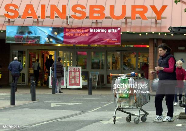 The scene at Castle Marina Sainsbury supermarket in Nottingham on the day the company posted a 3% increase in firsthalf profits Underlying pretax...