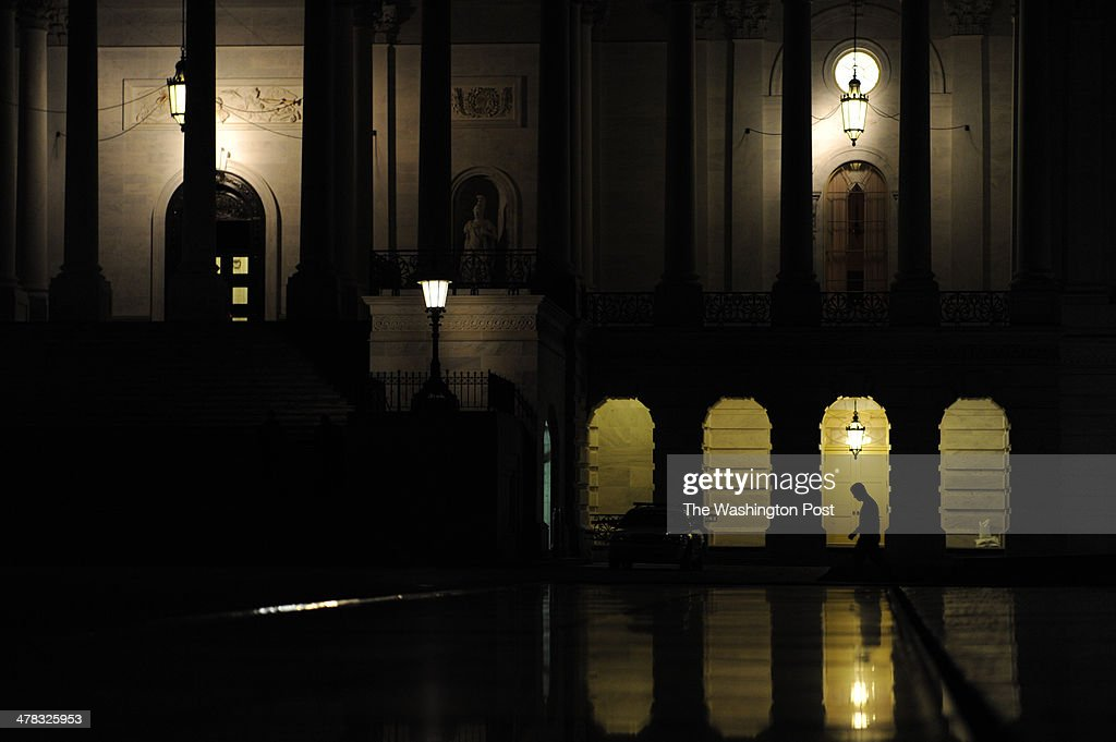 The scene at the Capitol building during a blackout. March, 12, 2014 in Washington, DC.